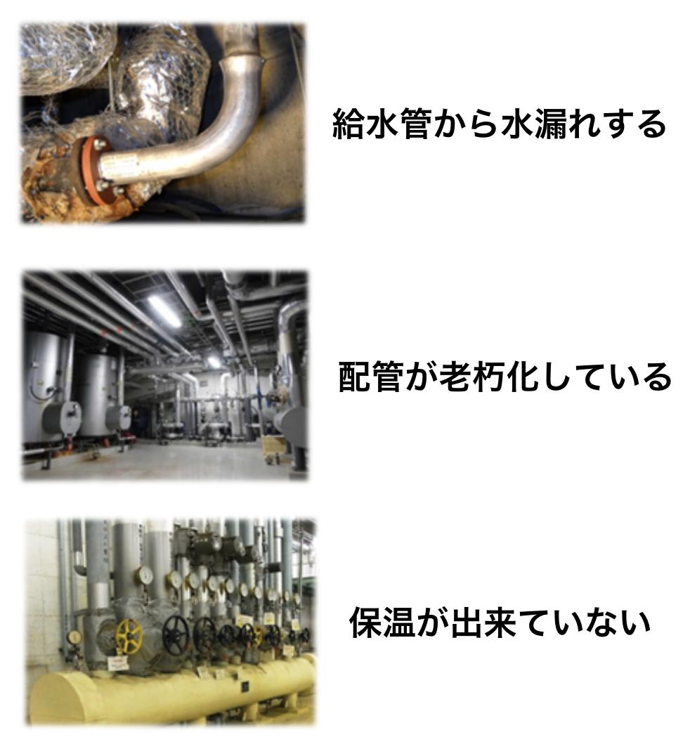 給水管から水漏れする 032603 配管が老朽化している 032605 保温が出来ていない